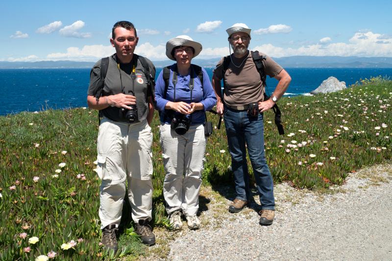 Laurent, Pascale et Joël sur l'île de Porquerolles